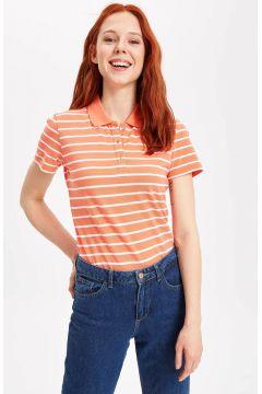 DeFacto Kadın Kısa Kollu Polo T-shirt(108987424)