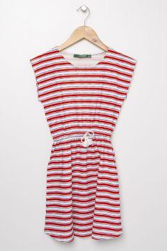 Limon Kırmızı - Lacivert Elbise(113996305)