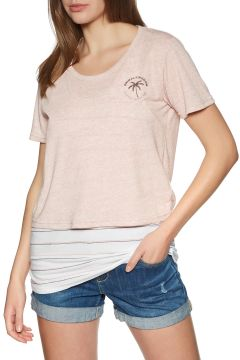 Animal Double Up Damen Kurzarm-T-Shirt - Rugby Tan(114188838)
