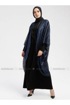 Black - Navy Blue - Unlined - Crew neck - Muslim Evening Dress - Armine(110337466)