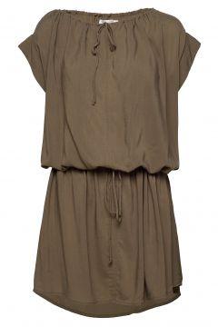 Latifa Kurzes Kleid Beige RABENS SAL R(117675695)
