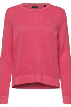 Cotton Pique C-Neck Strickpullover Pink GANT(115807333)