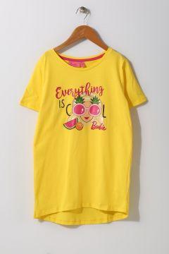 Barbie Kız Çocuk Karakter Baskılı Sarı T-Shirt(113957834)
