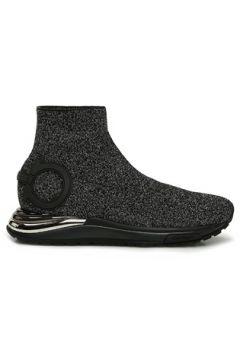 Salvatore Ferragamo Kadın Siyah Simli Çorap Formlu Sneaker Gri 38 EU(127752654)