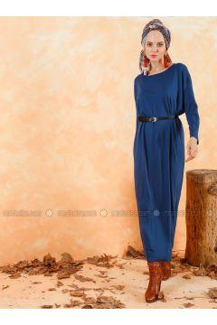 Indigo - Crew neck - Unlined - Cotton - Dresses - Muni Muni(110333271)
