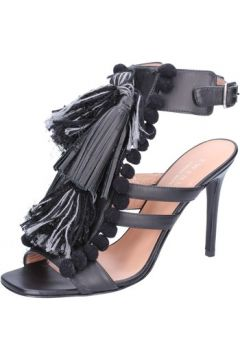 Sandales Twin Set TWIN-SET sandales noir cuir gris textile AB893(88470142)