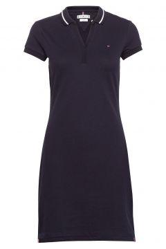 Bea Slim Polo Dress Ss Kleid Knielang Blau TOMMY HILFIGER(116303875)