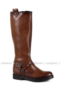 Tan - Boot - Boots - Angelshe(110340375)