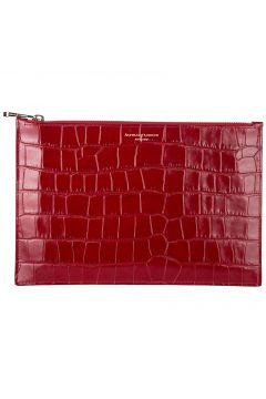 Women's leather clutch handbag bag purse large essential flat pouch(118071367)