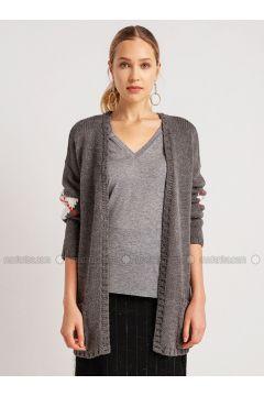 Gray - Acrylic -- Cardigan - NG Style(110341272)