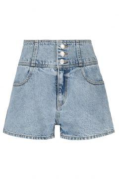 High Waist Denim Shorts(111016595)