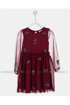Maroon - Age 8-12 Dress - LC WAIKIKI(110343423)