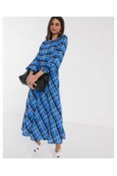 Inwear - Leigthon - Vestito midi blu a quadri-Multicolore(120332568)