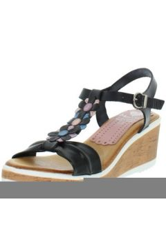 Sandales Marila Talons compensés en cuir ref_neox43584-noir(128013188)