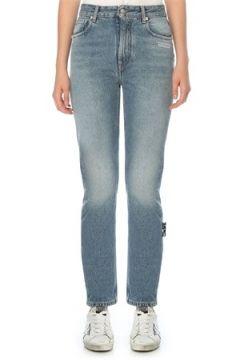 Off-White Kadın Straight Fit Jean Pantolon Mavi 26 US(121208157)
