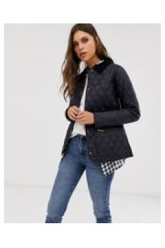 Barbour - Annandale - Giacca con trapuntatura a rombi e colletto a coste-Navy(122136921)