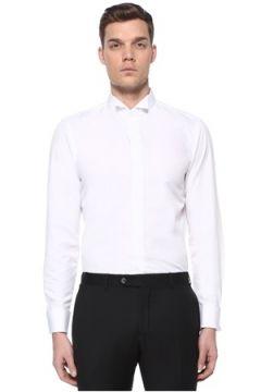 Lardini Erkek Beyaz Ata Yaka Smokin Gömleği 42 IT(109265170)