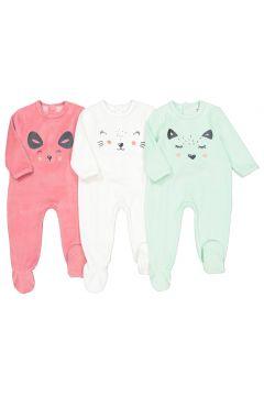 Lote de 3 pijamas 1 prenda de terciopelo 0 meses - 3 años(114396533)