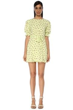 Faithfull The Brand Kadın Luda Floral Lime Desenli Mini Elbise Beyaz XS EU(119229986)