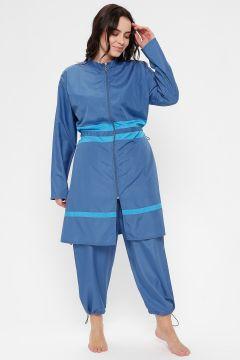 Maillot De Bain Grande Taille AKBENİZ Bleu(119067247)
