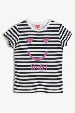 Koton Kız Çocuk Çizgili T-Shirt(89961477)