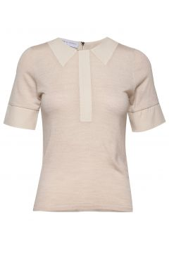 Petit Tee W/Collar T-Shirts & Tops Knitted T-Hemd/tops Beige CATHRINE HAMMEL(109011068)