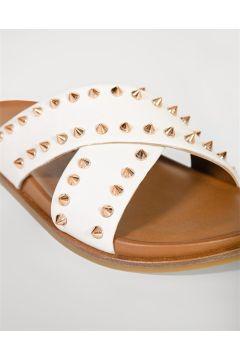 Shoes & More Kadın Beyaz Terlik(124639218)