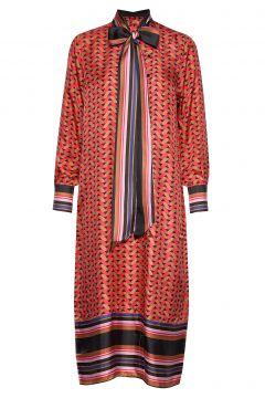 Tiles Midi Dress Kleid Knielang Rot SECOND FEMALE(114163785)