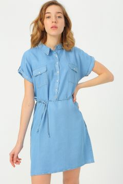 Fashion Friends Mavi Elbise(116366305)