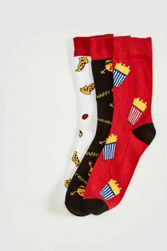 Erkek Baskılı Soket Çorap 3\'lü(127067683)