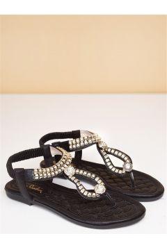 Pierre Cardin Kadın Günlük Sandalet-siyah(113623595)