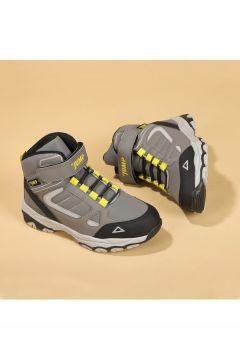 Jump Unisex Çocuk Gri Termal Astarlı Spor Bot Ayakkabı 25808(124057009)