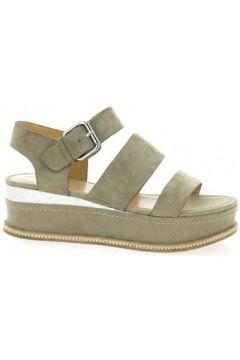 Sandales Adele Dezotti Nu pieds cuir velours sable(127909570)