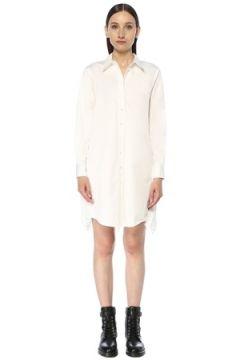 Allsaints Kadın Iris Beyaz Dantel Garnili Mini Gömlek Elbise L EU(117384855)