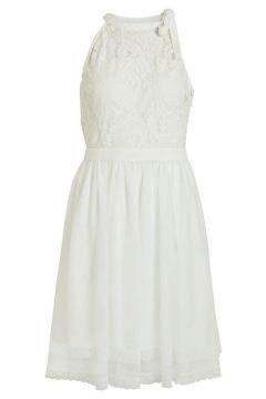 VILA Kanten Bovenkant Mini Jurk Dames White(111145300)