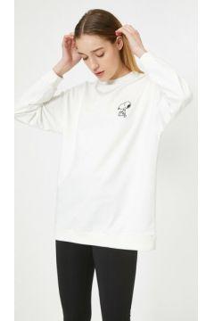 Koton Kadın Snoopy Baskili Lisansli Uzun Sweatshirt(113416215)