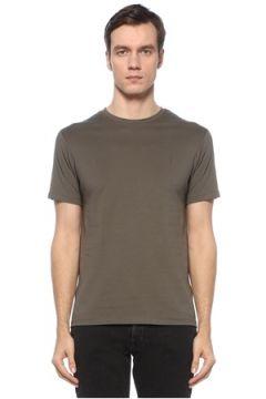 Allsaints Erkek Brace Tonic Haki Logolu Basic T-shirt Yeşil S EU(124437829)