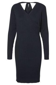 MAMA.LICIOUS Soft Rib Nursing Dress Women Blue(107366546)