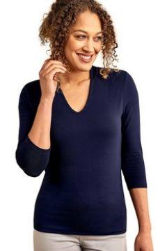 T-shirt Woolovers Haut à col V profond Femme Jersey(115541545)