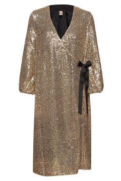Sequins Everlee Dress Kleid Knielang Gold BECKSÖNDERGAARD(118239992)