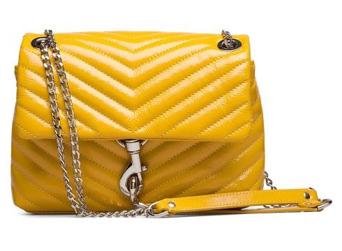 Edie Crossbody Naplack Bags Small Shoulder Bags - Crossbody Bags Gelb REBECCA MINKOFF(114165760)