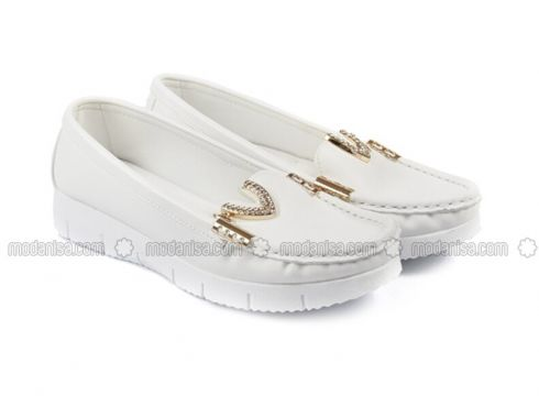 White - Flat - Flat Shoes - G.Ö.N(110343123)