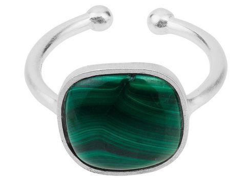 Malachite Ring Adjustable Ring Schmuck Grün PERNILLE CORYDON(115544141)