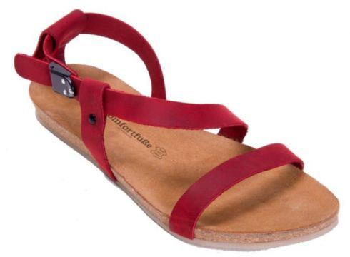 Comfortfüsse Hakiki Deri & Mantar Tabanlı Kadın Sandalet -grady(110959779)
