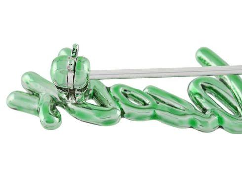 Marc Jacobs signature logo brooch - Vert(76477424)