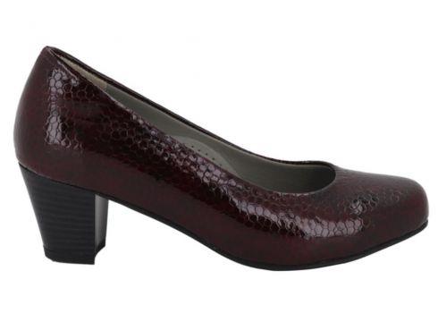 Hobby Bordo Kroko Topuklu Kadın Ayakkabı 5116(109220830)