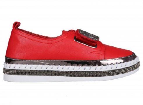 Guja 20y311-3 Dolgu Topuk Kırmızı Kadın Sneakers(123837293)