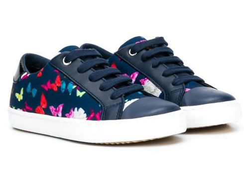 Geox butterfly print sneakers - Bleu(65471043)