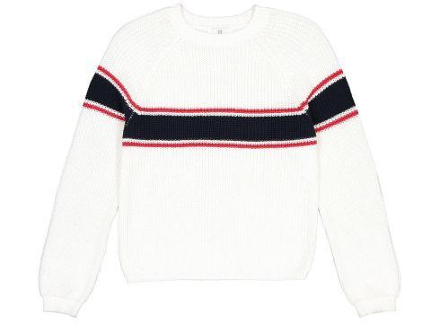 Jersey con cuello redondo de punto grueso a rayas 10-18 años(108827910)