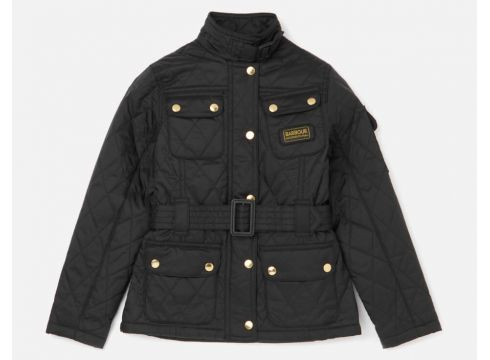 Barbour International Girls\' Flyweight Jacket - Black - XXS/2-3 years(69398191)
